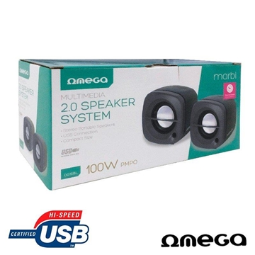 Εικόνα της HXEIA OMEGA OG15 BLACK 2.0 USB POWER 2X3W RMS