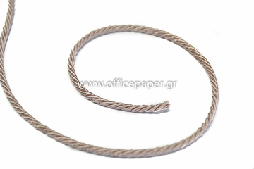 Picture of ΚΟΡΔΕΛΑ ΤΡΙΚΛΩΝΗ ΣΑΤΙΝΕ 3mm X 50m  ΜΠΕΖ  No38485