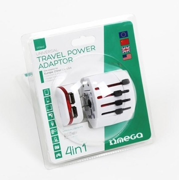 Picture of ΑΝΤΑΠΤΟΡΑΣ ΠΡΙΖΑΣ OMEGA UNIVERSAL TRAVEL ADAPTOR OTRA2