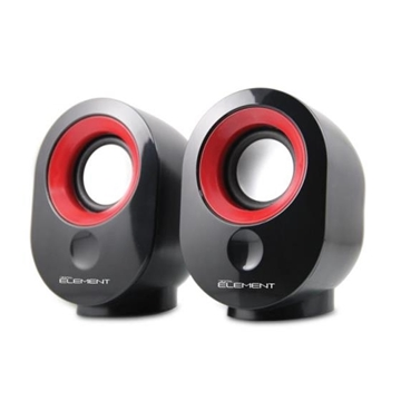 Εικόνα της ΗΧΕΙΑ ELEMENT SP-25R BLACK-RED 2.0 2X3.5W RMS USB-5V POWER