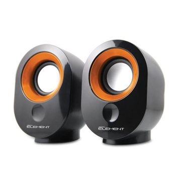 Εικόνα της ΗΧΕΙΑ ELEMENT SP-25OR BLACK-ORANGE 2.0 2X3.5W RMS USB-5V POWER