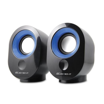 Εικόνα της ΗΧΕΙΑ ELEMENT SP-25B BLACK-BLUE 2.0 2X3.5W RMS USB-5V POWER