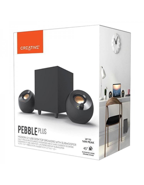 HXEIA CREATIVE PEBBLE Plus 2.1 USB Black 16W -8W RMS