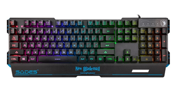 ΠΛΗΚΤΡΟΛΟΓΙΟ SADES GAMING SA-KB104S RGB BLADEMAIL GREEK USB
